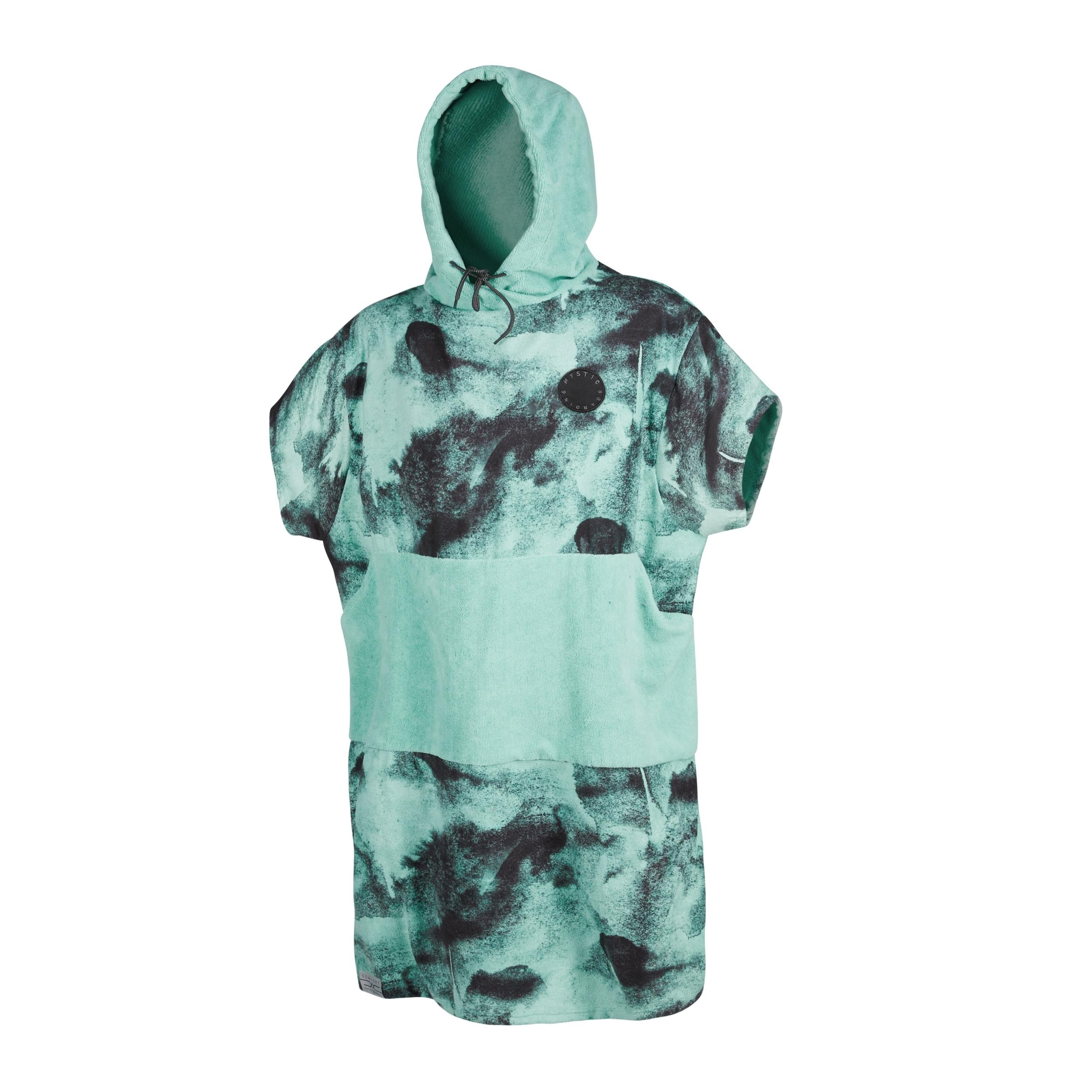 Mystic Changing Poncho - Allover Black/Mint