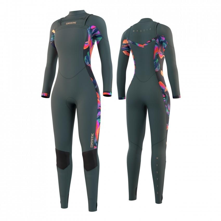 2021 Dazzled 5/3mm Ladies Full Wetsuit Front Zip Dark Leave