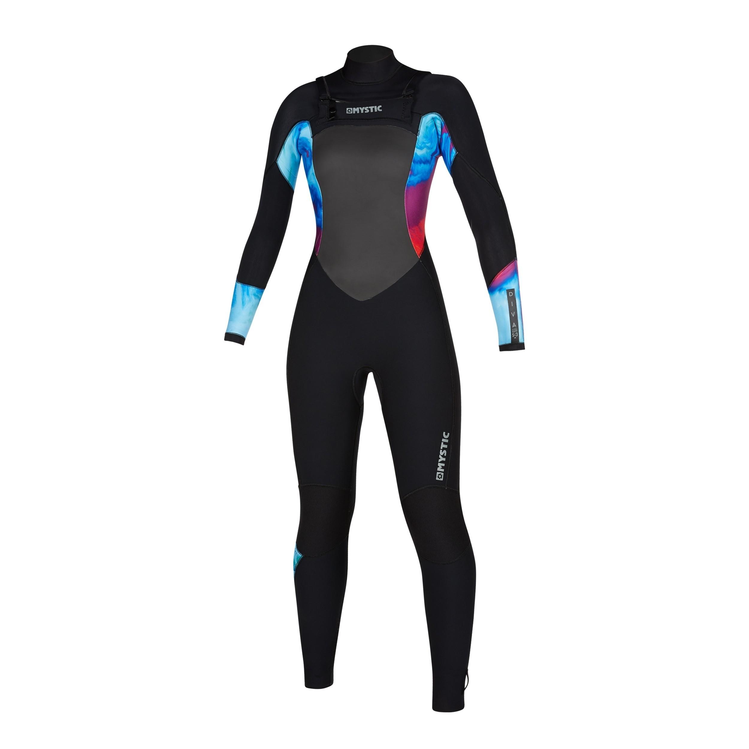 2020 Diva 5/3mm Ladies Full Wetsuit Front Zip Aurora