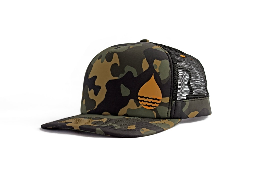Buoy Wear Floating Peak Cap Camo
