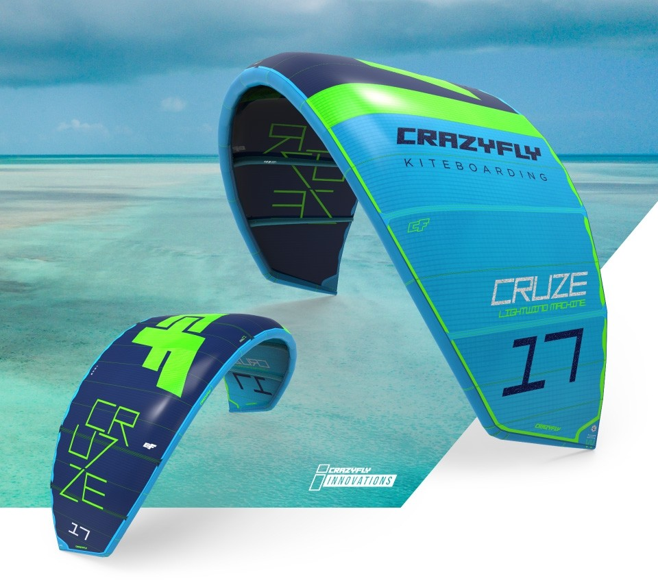 CrazyFly Cruze Lightwind Kitesurf Kite