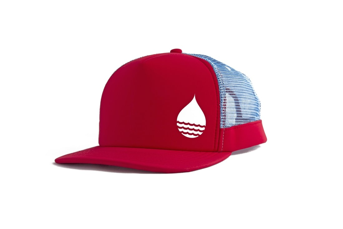 Buoy Wear Floating Peak Cap red