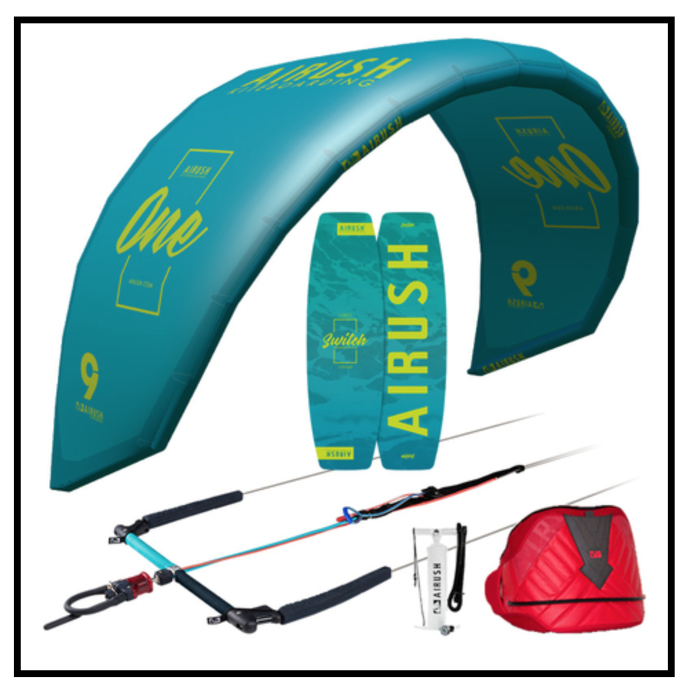 Airush 10m Lithium One Progression/ Switch Kitesurf Package