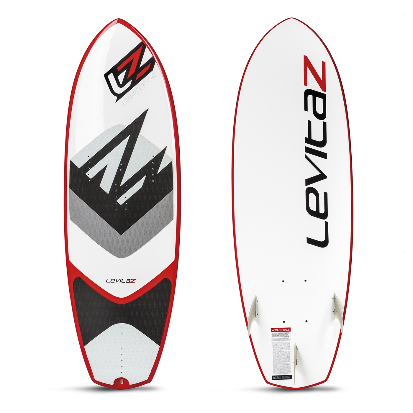 """The Levitaz Transformer is a modern 5´1"""" waveboard combined with a kitefoil interface."""
