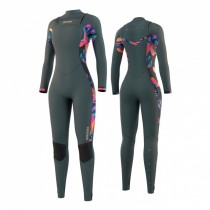 2021 Dazzled 5/3mm Ladies Full Wetsuit Front Zip Dark Leave