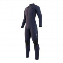 2022 Mystic Majestic Front Zip Winter Wetsuit 5/3mm - Blue