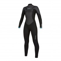 MYSTIC GEM FULLSUIT 5/3MM FRONT ZIP WOMEN - BLACK - 2020