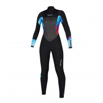 2020 Diva 5/3mm Ladies Full Wetsuit Front Zip Aurora