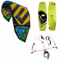 epic renegade and airush vox twin tip beginners kitesurf package
