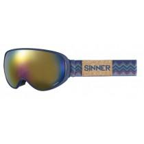 Sinner Nauders Matte Blue Frame Polarised Mirror Lens - One Size RRP £99.95