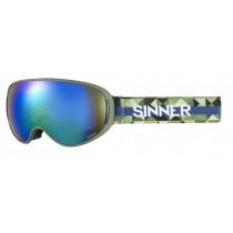 Sinner Nauders DRK-GRN Frame Polarised Mirror Lens