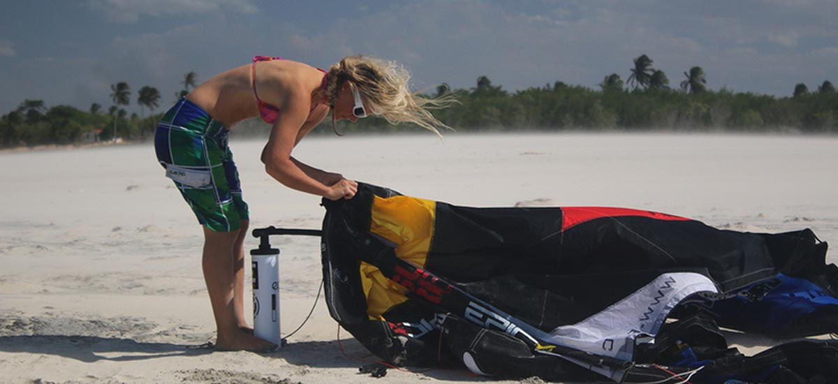 Ladies Kitesurfing equipment in stock
